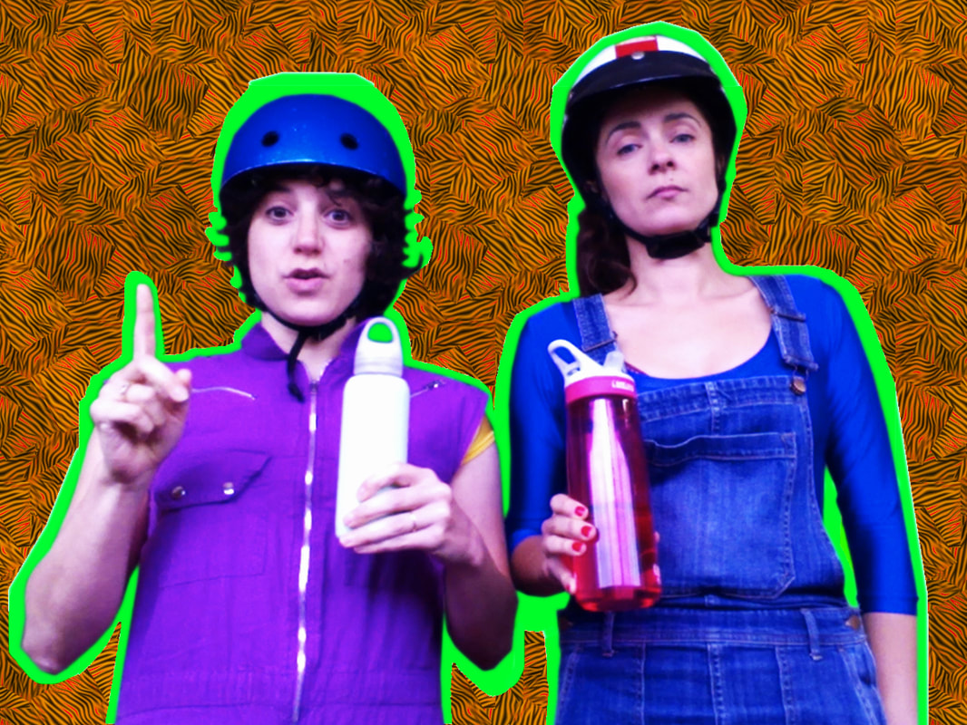 Gonzalez (Alicia Gonzalez) and Gonzalez (Debbie Zukerman) in their episode about staying hydrated